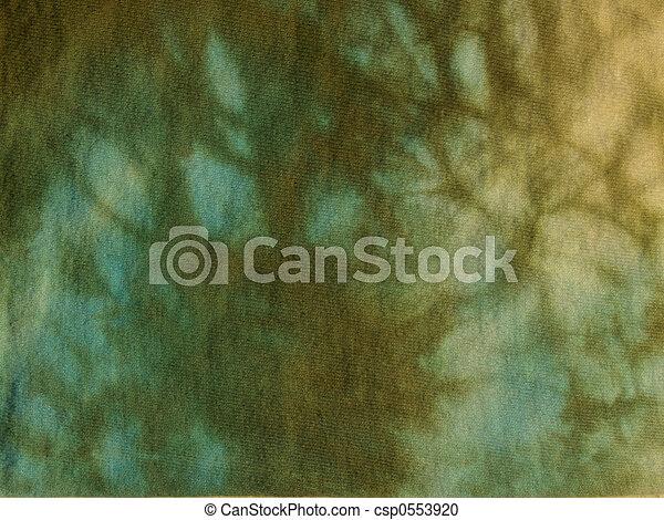 Olive, Aqua Tie-dye - csp0553920