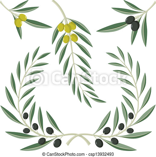 Olive branches - csp13932493
