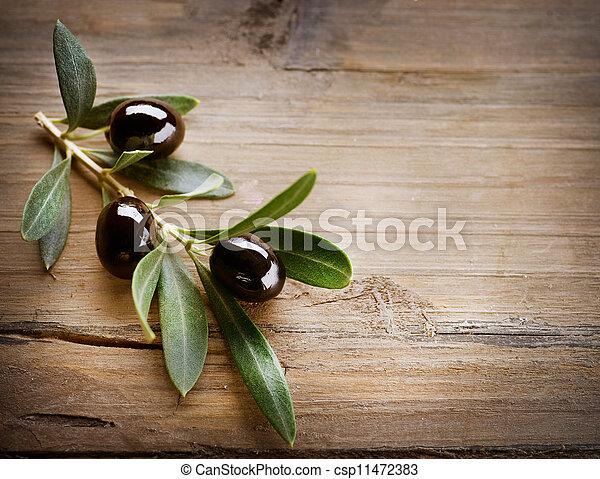 Oliven Hintergrund - csp11472383