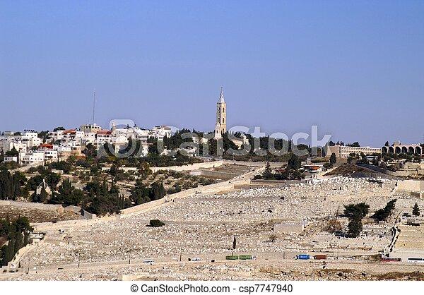 Olive mount in Jerusalem - csp7747940