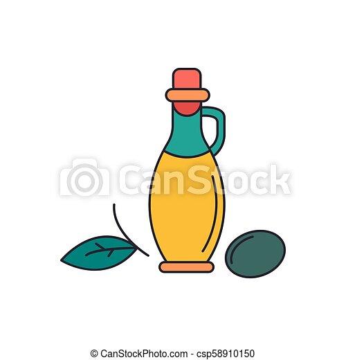 Olive oil icon, cartoon style - csp58910150
