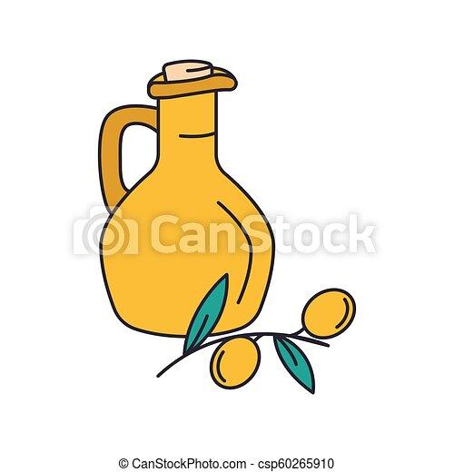 Olive oil icon, cartoon style - csp60265910
