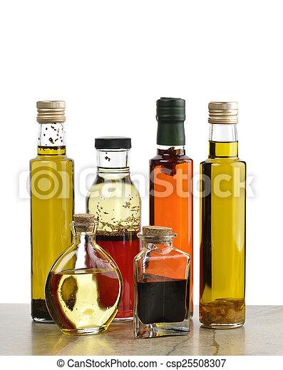 Olive Oil, Salad Dressing And Vinegar - csp25508307