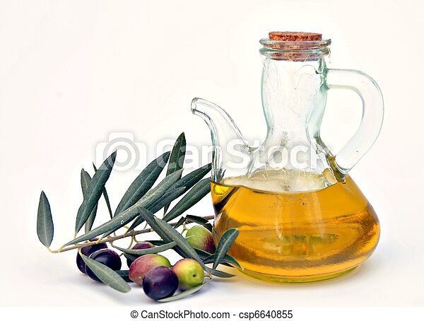 olive oil with olives - csp6640855