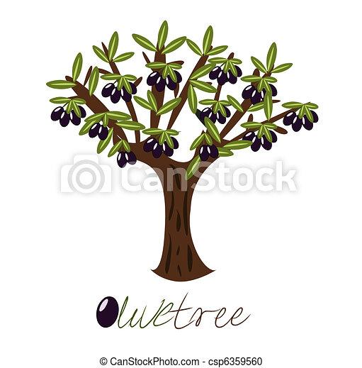 Olive Tree Full Of Black Olives