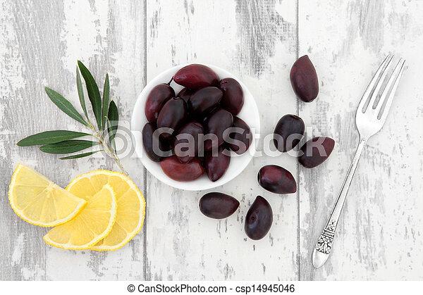 Olives and Lemon Fruit - csp14945046