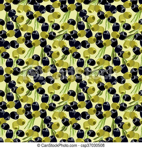 olives seamless pattern background. - csp37030508