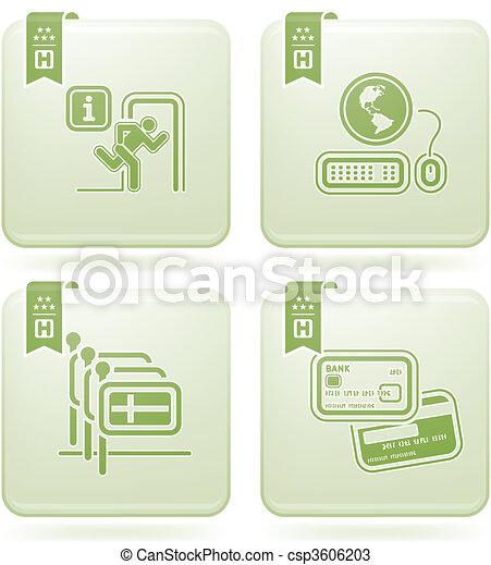 Olivine 2D Squared Icons Set: Hotel - csp3606203