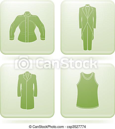 Olivine Square 2D Icons Set: Man\'s Clothing - csp3527774
