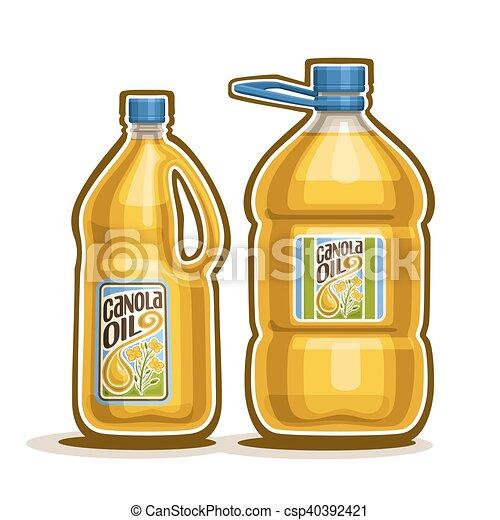 Olja Flaskor Canola Plastisk Canola Gul Logo Gallon