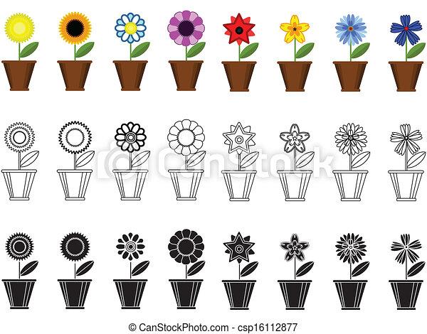 ollas, fronteras, flores - csp16112877