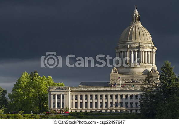 Olympia Washington Capital Building - csp22497647