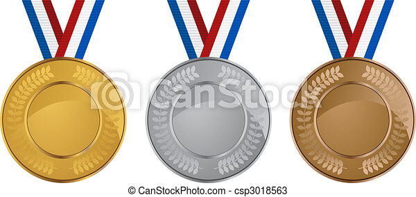 olympic medals set isolated on a white background vectors search rh canstockphoto com
