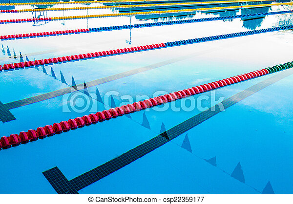 Olympic pool corridor cables floating 50m olympic outdoor for Pool design graphic