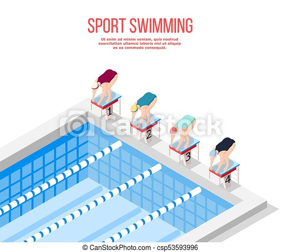 olympic pool swimming background csp53593996 - Olympic Swimming Pool Diagram