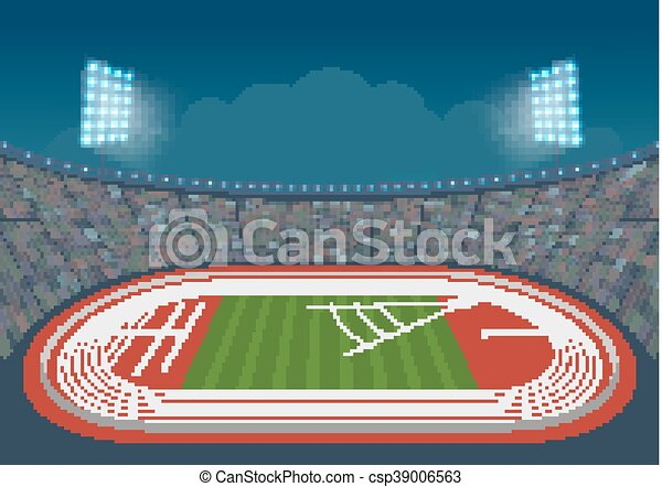 olympic stadium for competitions vector template design