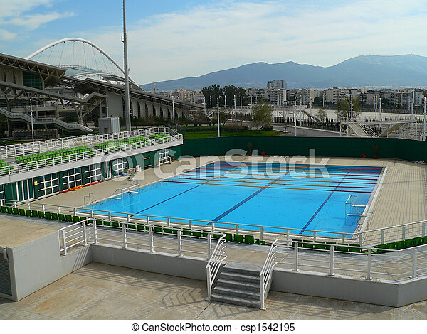 Olympic Swimming Pool The Outdoor Of Stock