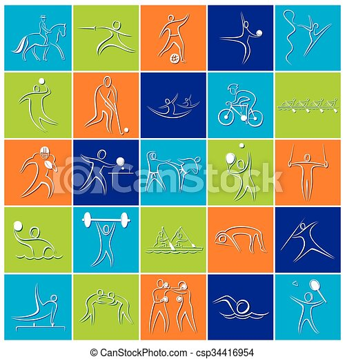 Olympics game symbol design - csp34416954