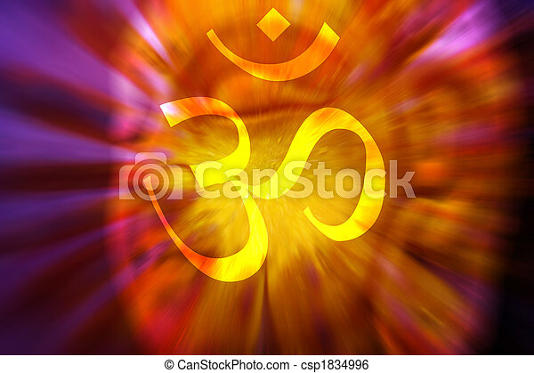 OM Meditation Background - csp1834996