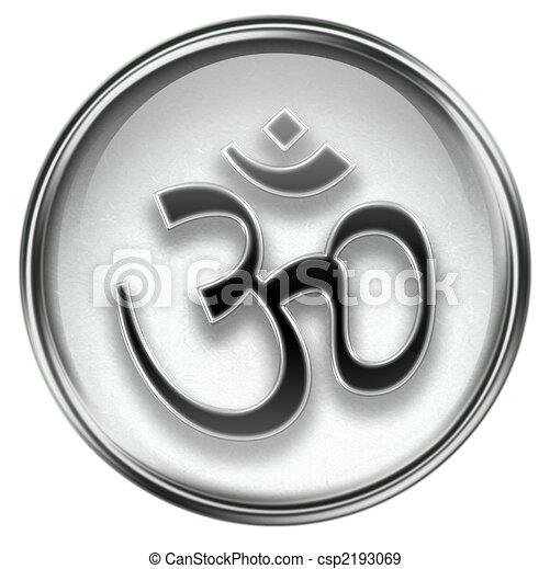Om Symbol icon grey - csp2193069