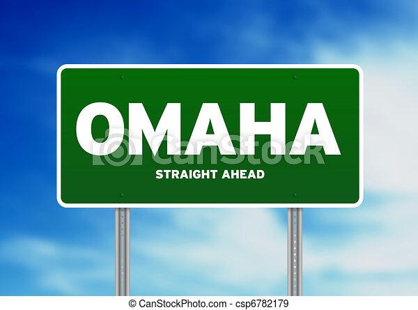 Omaha, Nebraska Highway Sign - csp6782179