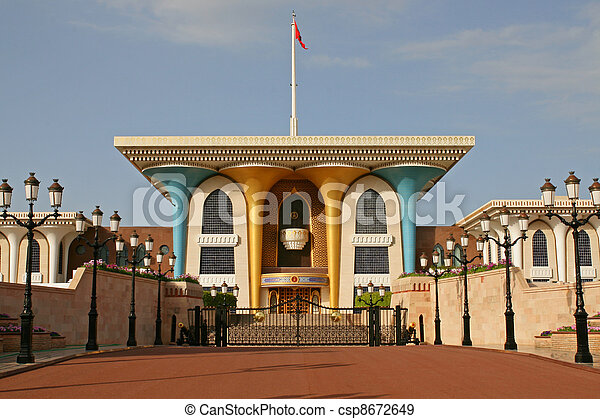 Oman, Sultan's palace in Muscat - csp8672649