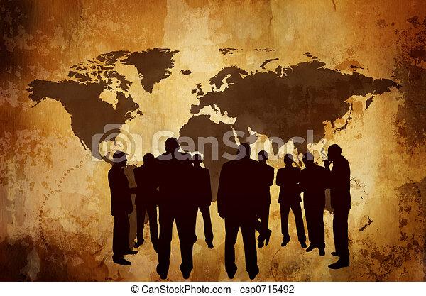 ombre, concept, ou, business, économie - csp0715492