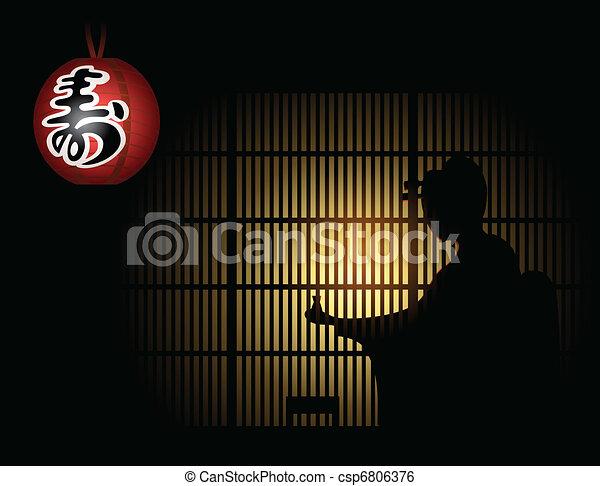 ombre, geisha - csp6806376