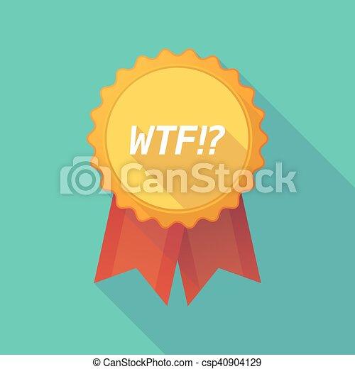 ombre, long, écusson, texte, wtf!? - csp40904129