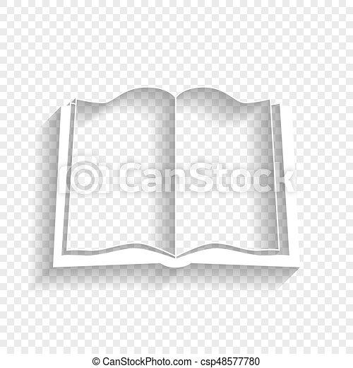 Ombre Signe Arriere Plan Livre Vector Blanc Doux Transparent Icone