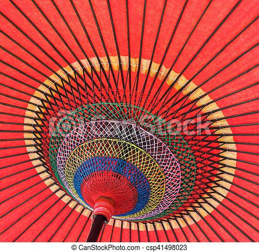 ombrello, fatto mano, dettaglio, su, asiatico, chiudere, decorato - csp41498023