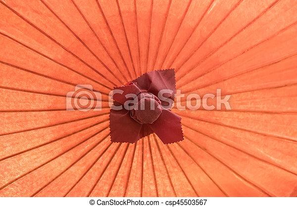 ombrello, fatto mano, dettaglio, su, asiatico, chiudere, decorato - csp45503567