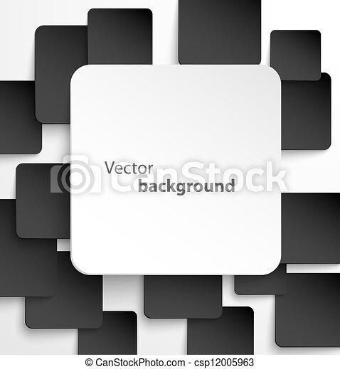 ombres, goutte, carrée, bannière, papier - csp12005963
