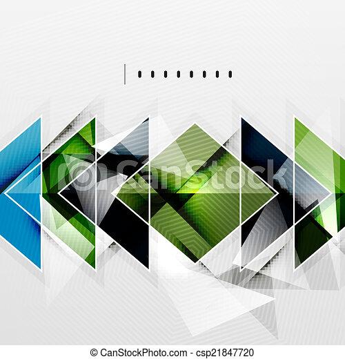 ombres, résumé, -, technologie, fond, carrés - csp21847720