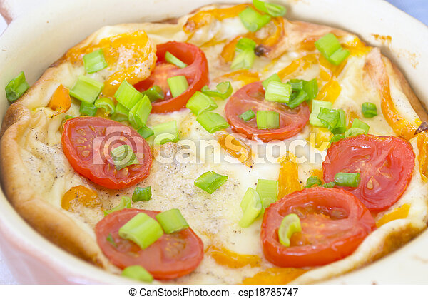 Omelet with Herbs and Tomatoes - csp18785747