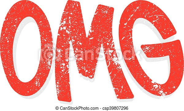OMG Oh My God vector lettering - csp39807296