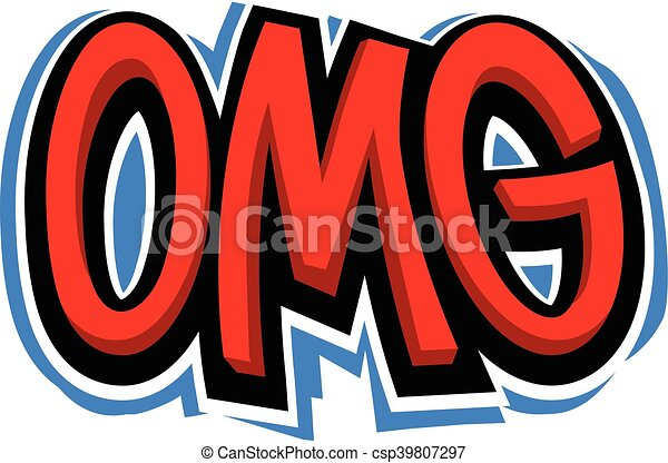 OMG Oh My God vector lettering - csp39807297