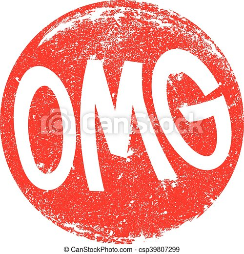 OMG Oh My God vector lettering - csp39807299