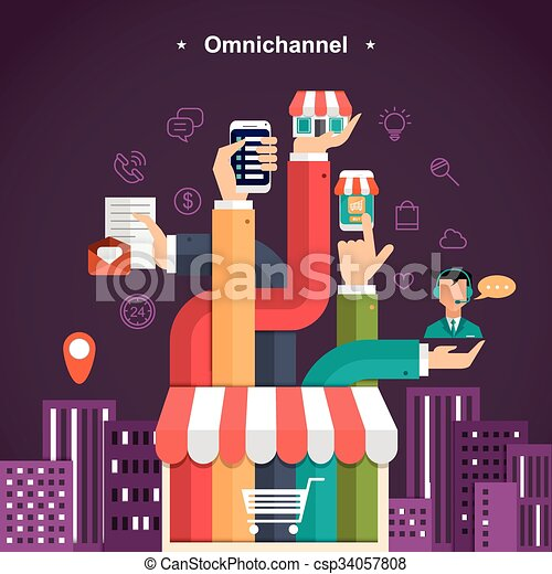 omni-channel shopping experience - csp34057808