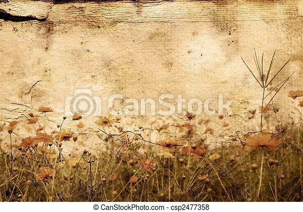 omodern, blomma, artistisk - csp2477358