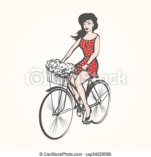 on a bicycle - csp34229586