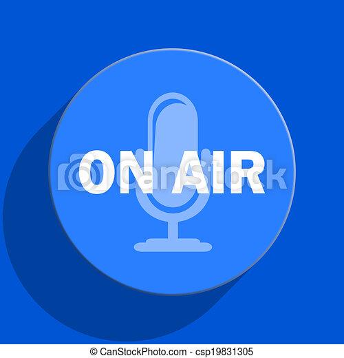 on air blue web flat icon - csp19831305