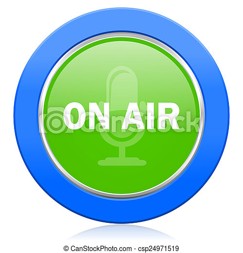 on air icon - csp24971519