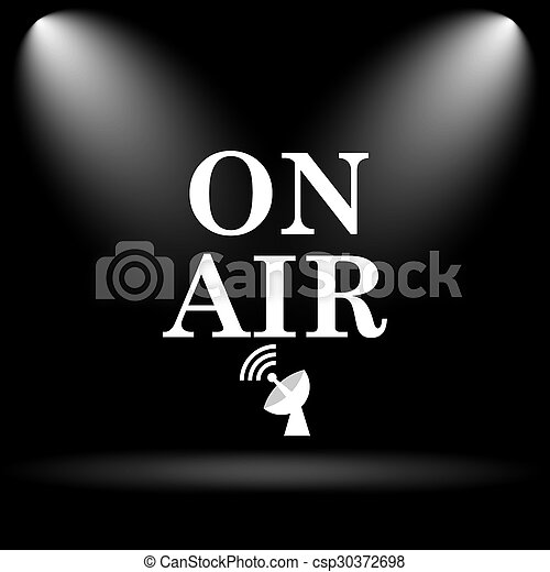 On air icon - csp30372698