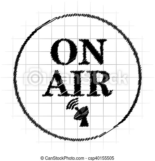 On air icon - csp40155505