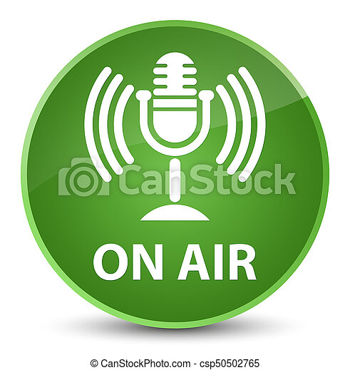 On air (mic icon) elegant soft green round button - csp50502765