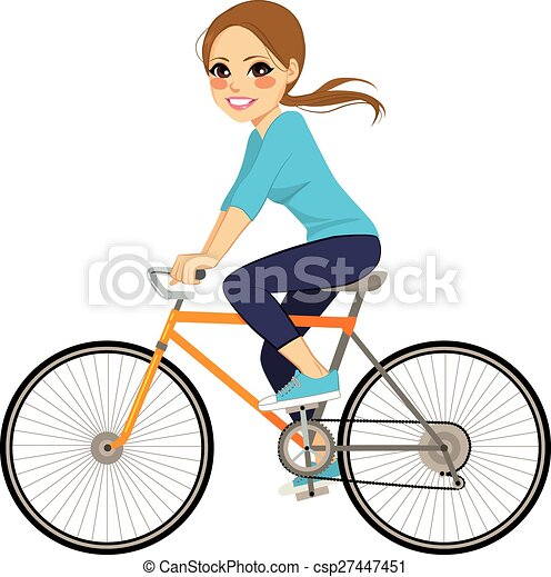 On Bicycle - csp27447451