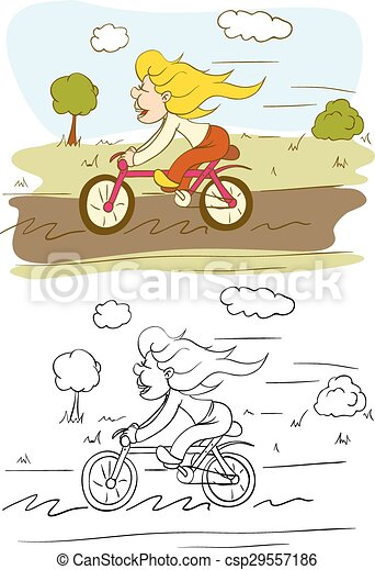 On Bicycle - csp29557186
