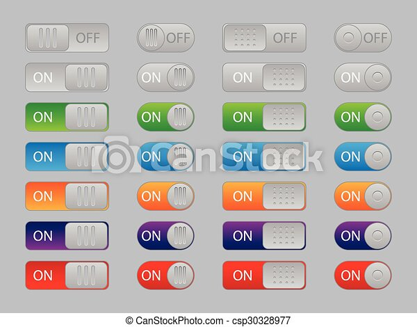 On-off buttons - csp30328977