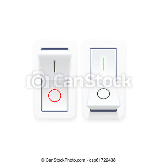 On off switch button ui isolated - csp61722438